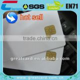 Plastic blank contact ic card with simons series chip