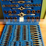 110pc alloy steel mertic or sae tap and die set in tool