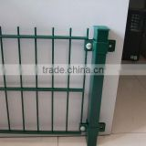 Pvc coated twin wire 868 fence panel, green or black color twin wire double rod wire mesh                                                                                                         Supplier's Choice
