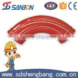 Abrasive resistant Twin wall concrete pump concrete pump schwing twin-wall delivery pipe bends