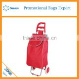 Multi-function two wheels Foldable Nylon Supermarket shopping trolley bag                                                                                                         Supplier's Choice