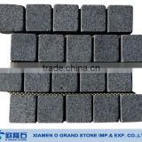 2014 landscaping Black granite mesh cobblestone pavers                                                                         Quality Choice