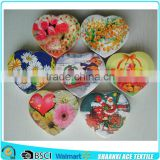 Cotton material romantic heart shape compressed towel screen printed heart compressed towel                                                                         Quality Choice