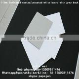 white lined grey graphic board 1.2mm thickness grey chipboard front side white duplex board pe coated