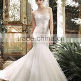 (MY11203) MARRY YOU Beaded Mermaid Floor-length Strapless Wedding Dresses 2015