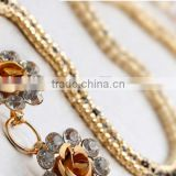 new hot-selling ladies and women elegant golden diamante rhinestone corn chain or link with lobster clasp