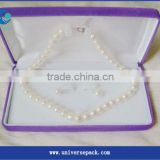 Clients Custom Pearl Necklace Lilac Flocking Box Wholesale Goods