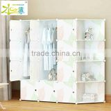 Plastic folding portable wardrobe