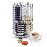 52 Capacity Chrome Metal Rotating Tassimo Capsule Holder