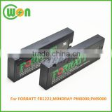 Inquiry About Medical rechargeable replacement battery for FORBATT replacement battery fb1223 12v 2300mah battery FB 1223 for Mindray PM9000