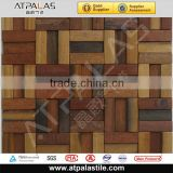 Building material design wallpaper interior decorative kitchen flooring tile wood mosaic