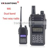 VKsantong M6 dual band uv-5r walkie talkie walkie with touch keyboard and fm radio function