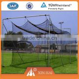 High quality PE braided nets with square mesh for sports net, like baseball / tennis / football nets