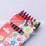 2015 Non-toxic Eco-Friendly Stationary Medium Wax Crayons Set with Color Box