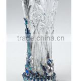 craft luxary pewter design vase crystal vase metal vase newly and fashion decorative glass vase