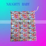One pocket printed cloth diaper wetbag, diaper bag manufacturer