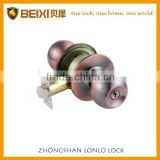 High Quality Brass Made Antique Copper Finish Cylindrical Knob Door Lock