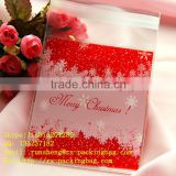 Christmas Snowflake Plastic Bakery Bag cellophane Cookie Bags For Breads