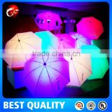 glow in the dark led umbrella with waterproof material fabric