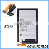 100% Original lithium ion EQ40 Battery for Motorola Cell Phone XT1254 Quark Droid Turbo 3.8V 3900 mAh