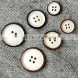 4 Holes 24L,32L,36L Fancy Black, Brown Natural Corozo Nut Buttons for Lady's Clothing