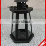 antique black metal and glass decorative outdoor hurricane lantern wholesale