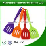 wholesale colorful Silica leakage shovel, plastic slotted spatula&spoon silicone spatula Silicone spetula kitchenware factory