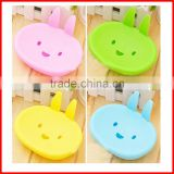 Cute Cartoon Rabbit Plastic Soap Dishes Bathroom Soap Holder Storage Display Bathroom Sets Eco-Friendly