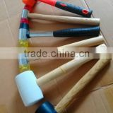 different size China factory of hammer strength rebound hammer rubber hammer with free samples mallet hammer