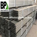 Galvanized Perdrilled Traffic Steel Square Tubing Posts