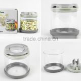 hot sale cheap price high borosilicate glass storage canister/HBG airtight coffee canister/storage canister