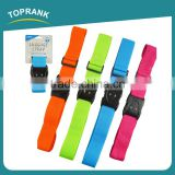 Toprank Custom Design Logo Polyester 2 Digit Tsa Lock Luggage Belt Strap Adjustable Travel Luggage Belt With Lock