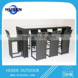 High Top Wicker Bar Table And Chair Set