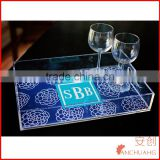 Clear Acrylic Tray with Insert Slot for Custom Photo or Paper - Lucite - Includes Guide and Video Training