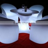 romantic wedding illuminated and event led bar chairs, led table, led furniture