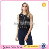 New design Factory price Accept Small/Min/Loe Order quantity Ebroideried Embellishment Beaded Women top Women Blouse