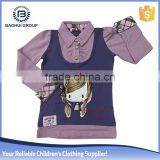 Chinese wholesaler factory winter long sleeve winter clothing girls t-shirts