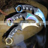 Web CS GO Karambit,Claw Karambit Knife,Outdoor High Hardness Karambit