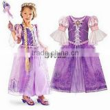 Children fancy dress sofia princess dress for baby girls 2015 new style children fancy dress