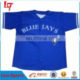 Hot sale custom sublimation baseball jersey international Bule Jays baseball/softball jerseys