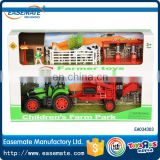 Hot selling kids plastic friction cheap farm cars for kids