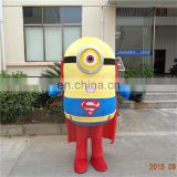 Factory direct sale minion mascot costume for adults