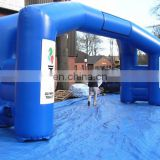 Double Leg branded Inflatable Blue Sports Arch for advertising