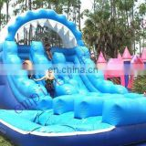 Cheap commercial best quality water slide with pool WS009