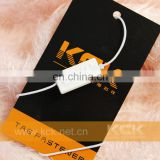 Custom clothing plastic hang tags with elastic string