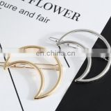 Fashionable metal hair clips with moon shape barrettes for ladies