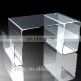 Modern excellent transparent smoothed acrylic table plexiglass writing desk