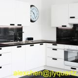 Kimria quartz  7 days delivery pure black quartz vanity tops