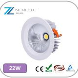 20w  led recessed lighting 137mm cutout cree led downlight 5 years warranty dimmable led