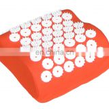 Eco friendly 100% cotton cover plastic spike back pain relief acupressure mat and pillow set